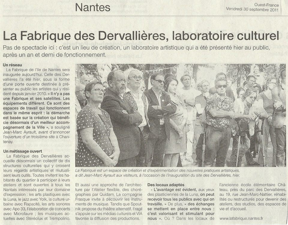 Presse : Ouest-France parle de la Fabrique