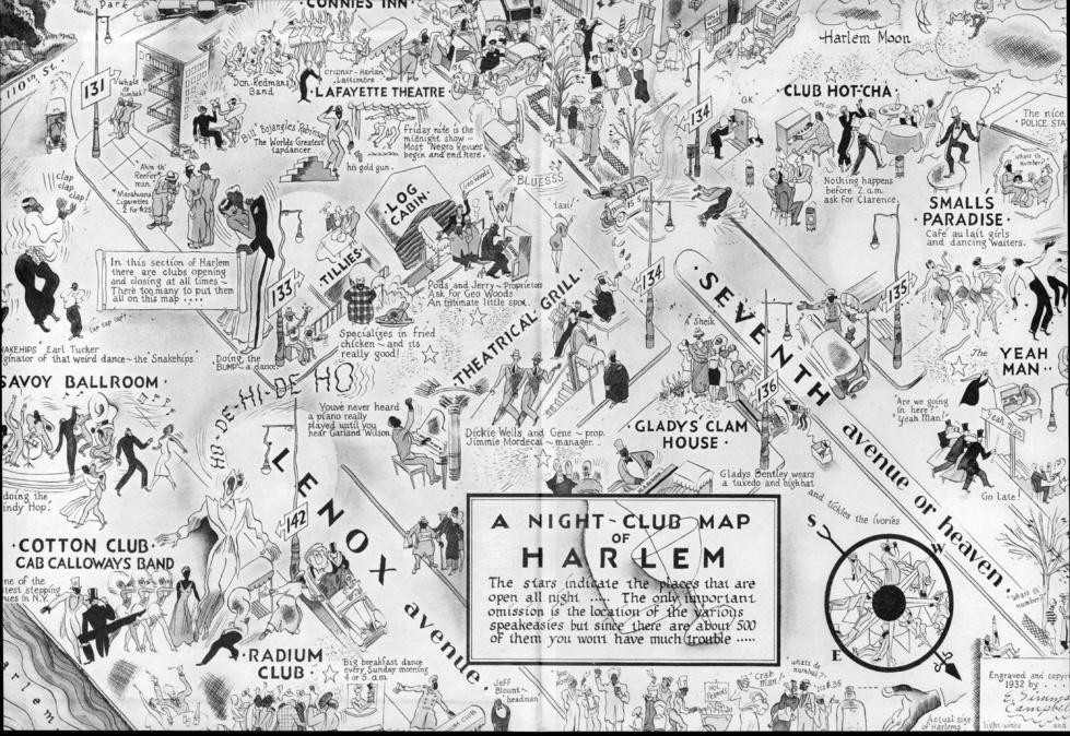 """""""A Night-Club Map of Harlem"""" (1932)"""