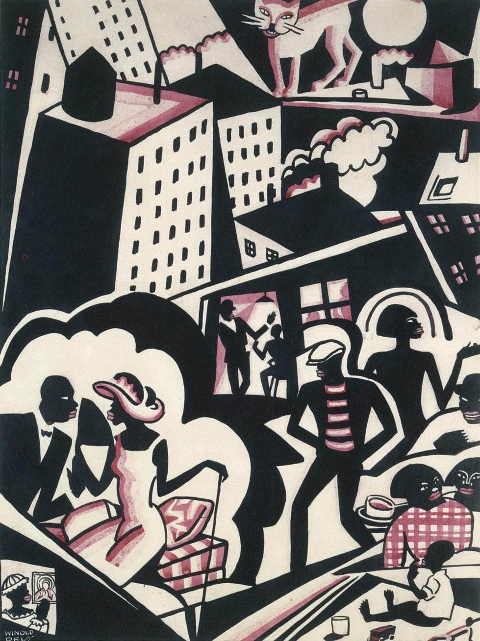 Winold Reiss Harlem Jungle