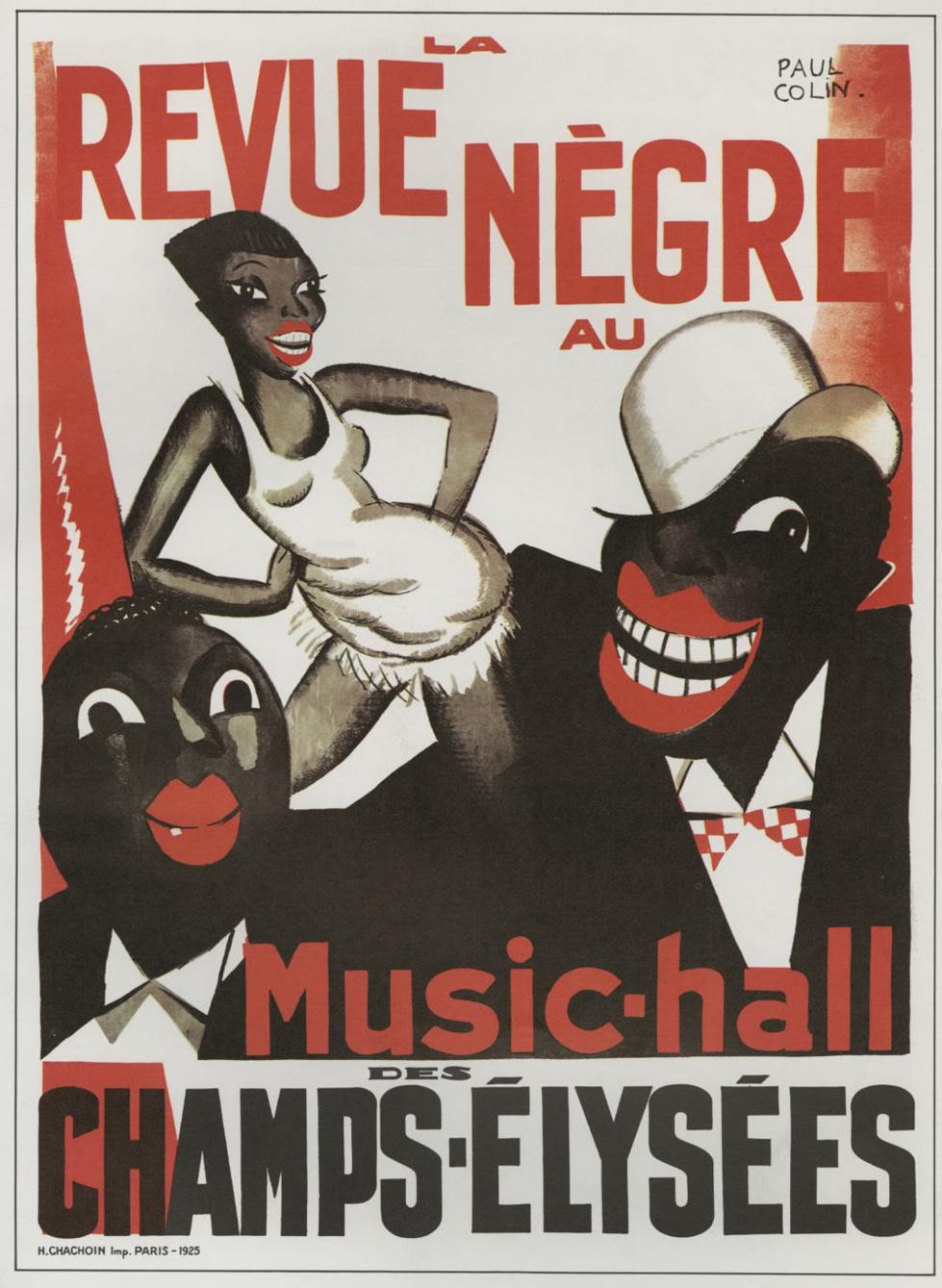 """Affiche par Paul Colin de la """"Revue Nègre"""""""