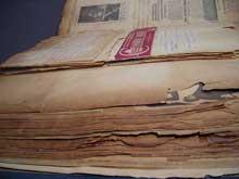 Un des Scrapbook de Johnny Hudgins conservé à l'Emory University d'Atlanta
